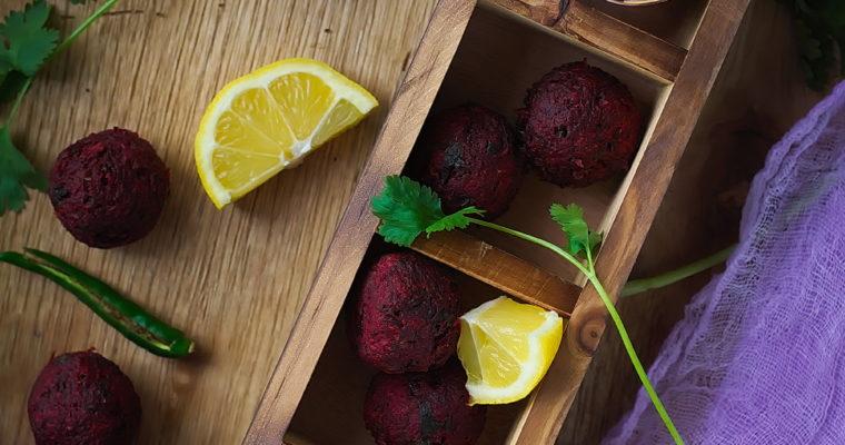 Spicy beet balls