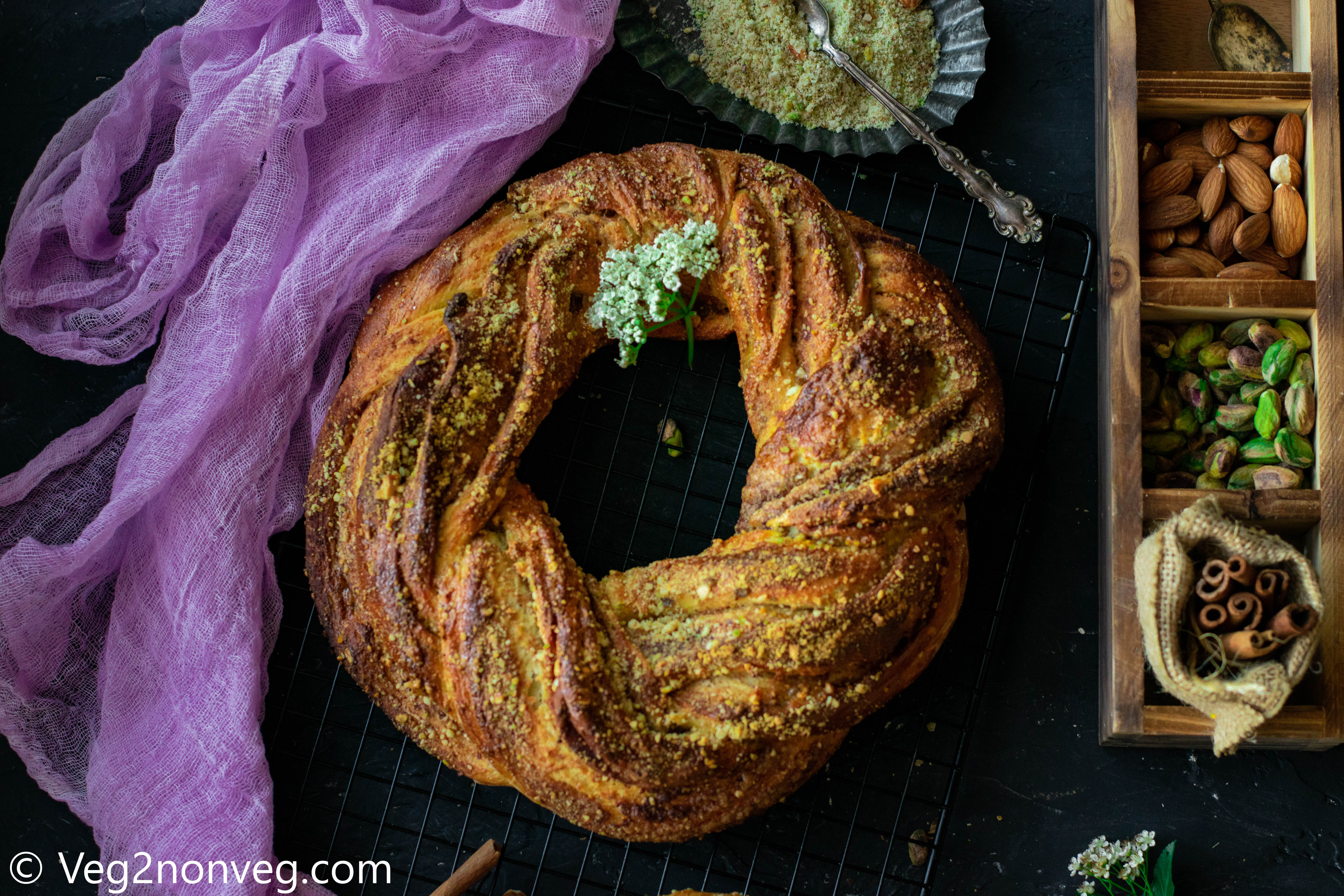 Cinnamon and Nuts filled Braided Bread
