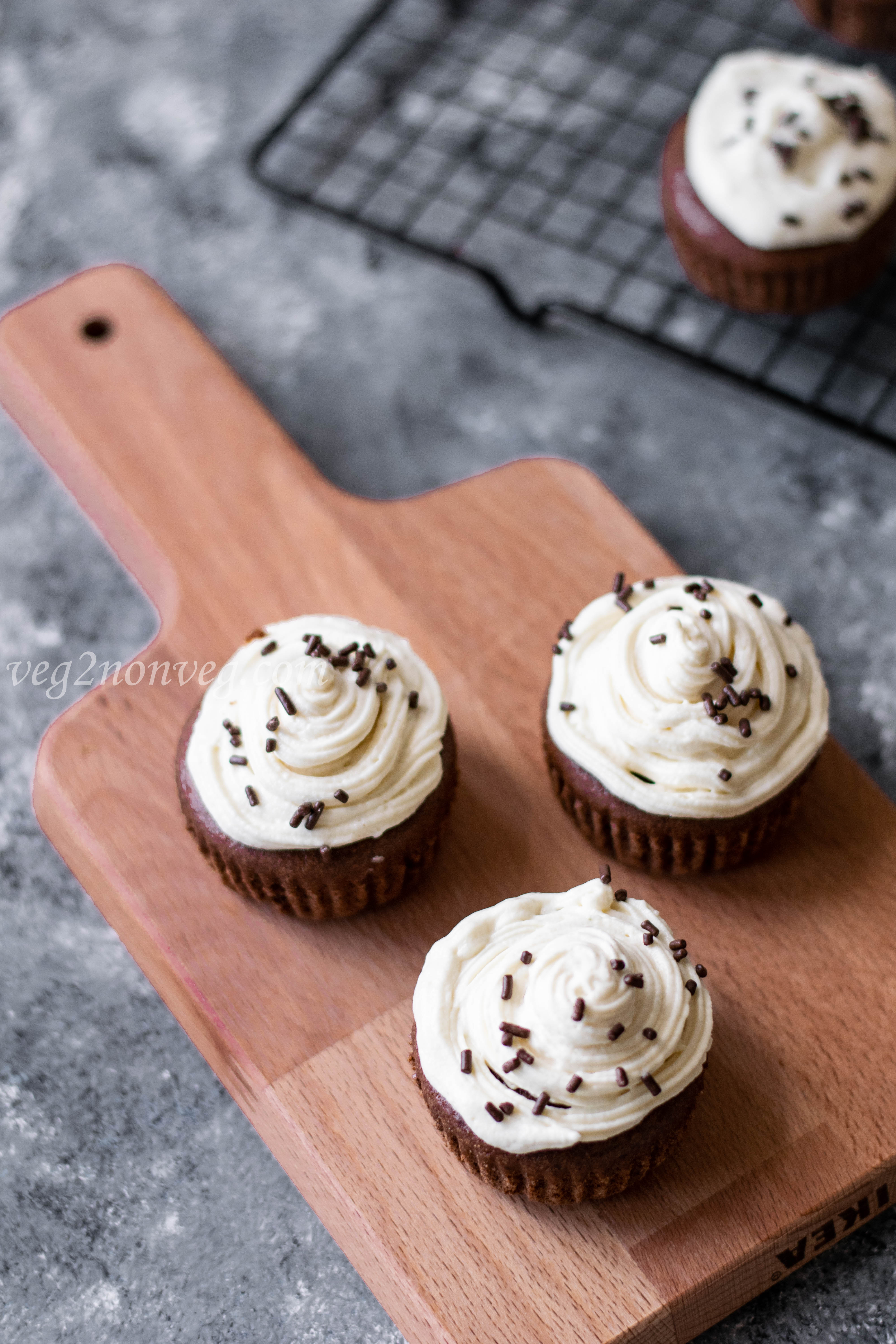 Gluten-Free Chocolate Cupcakes with Honey Buttercream Frosting
