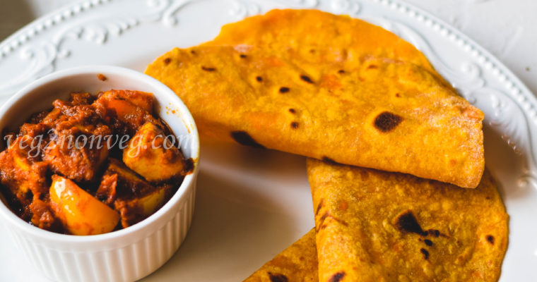 Sweet potato flatbread/roti