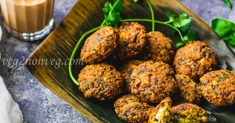 Keerai Masal Vadai(Spinach and lentil fritters)