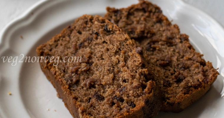 Ragi and whole wheat banana bread (Eggless)