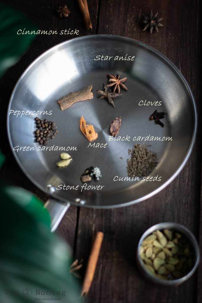 biryani masala, cettinad, food styling masala