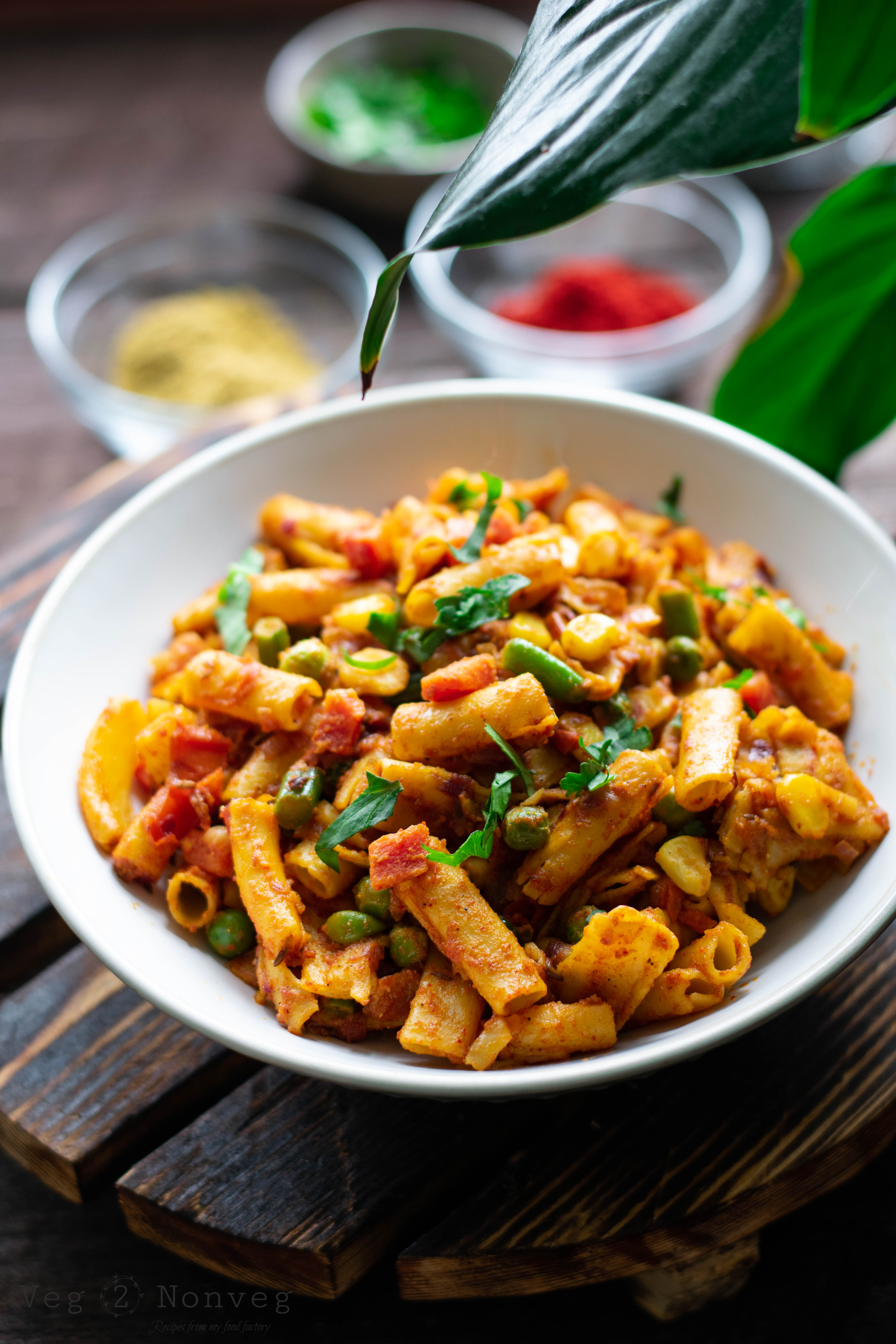 Spicy Masala Pasta Recipe(Indian style)