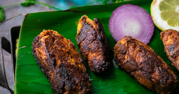 Chettinad Fish fry (Red Snapper) Recipe