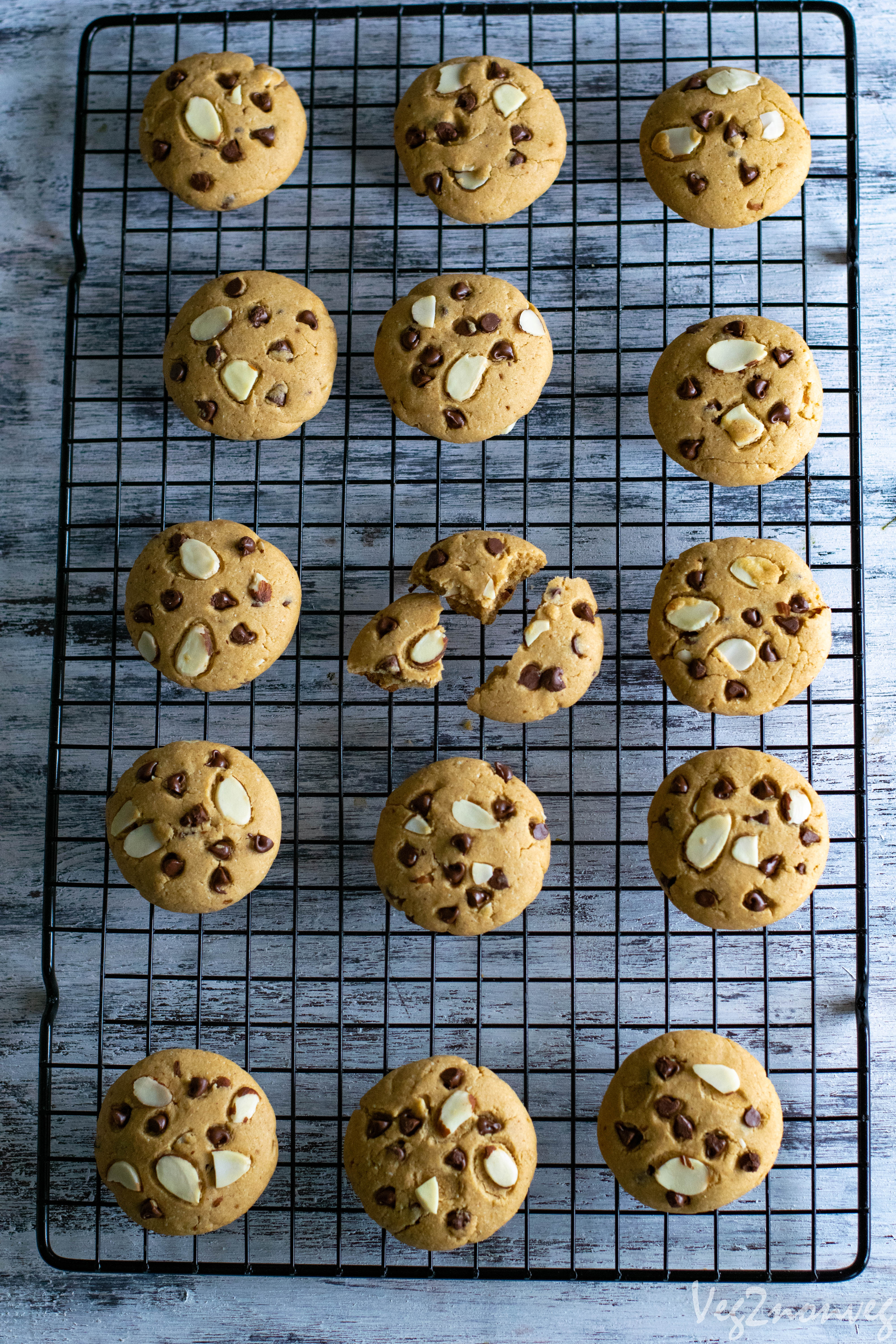 Chocolate Chip Whole Wheat Cookies