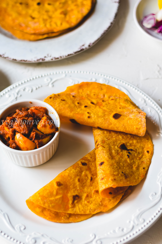 Sweet potato roti , flatbread, tortilla (video recipe)