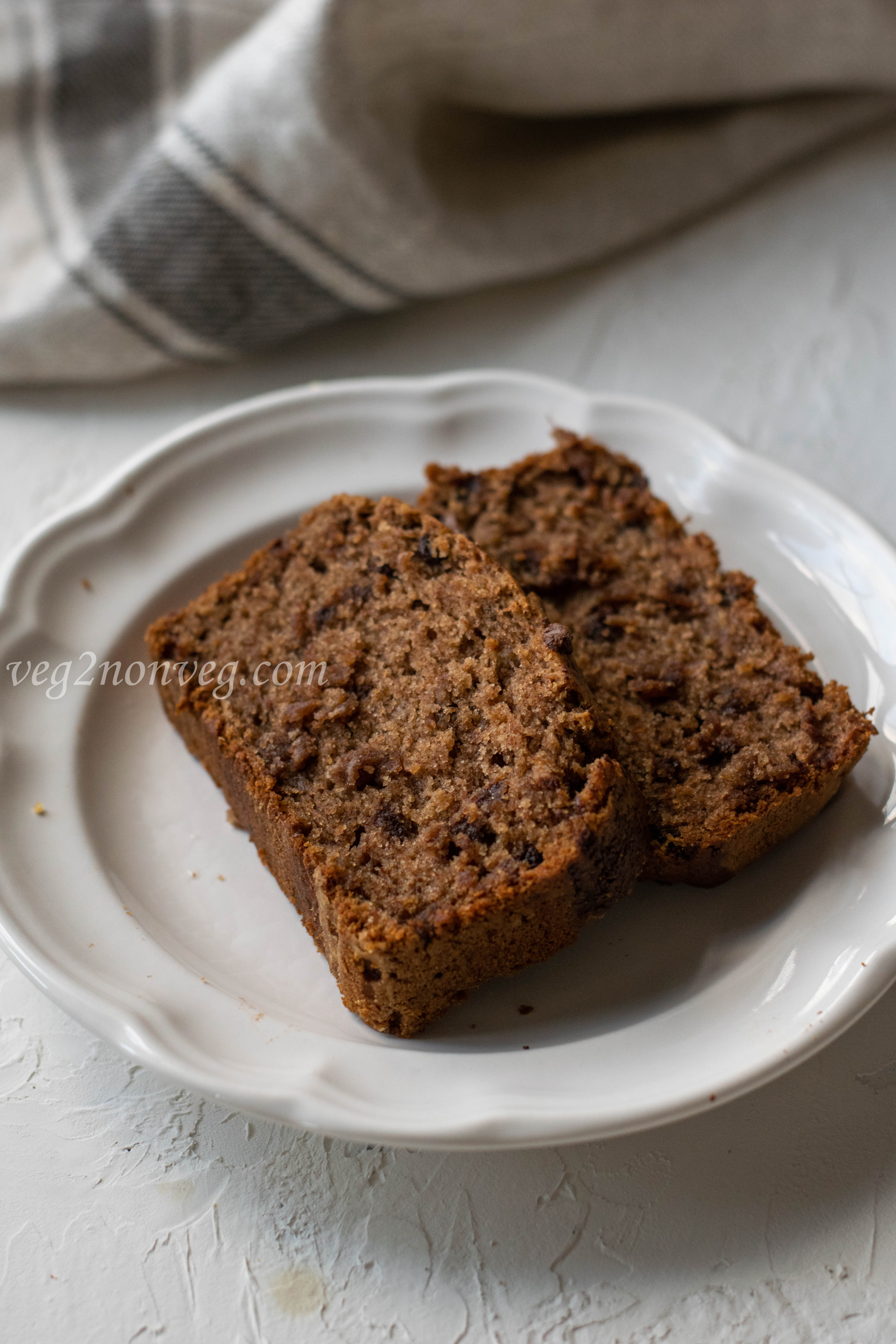 Ragi and whole wheat banana bread (Eggless)