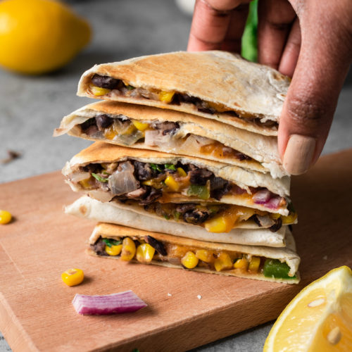 Veggie Quesadilla Recipe Vegetarian Quesadilla With Black Beans Veg2nonveg