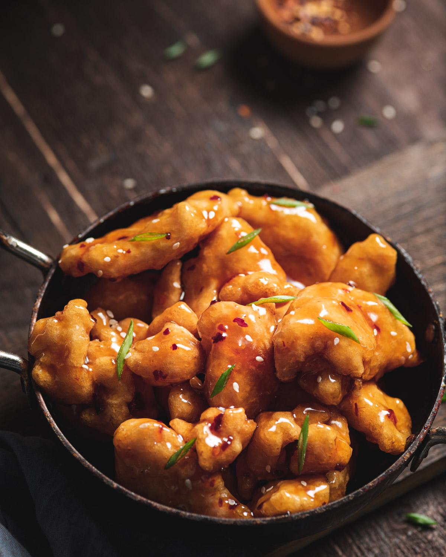 eatinnovasian, crispy chicken, honey chicken recipe, asian food styling